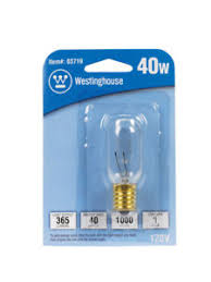 westinghouse appliance light bulbs 40 watts t8 intermediate base