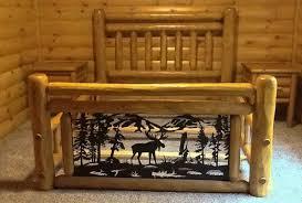 Custom Rustic Cedar Log Beds