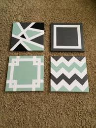 DIY Painted Canvases Tape PaintingPainters