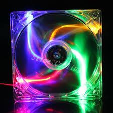 10pcs lot colorful led light 120mm 120x120x25mm dc computer