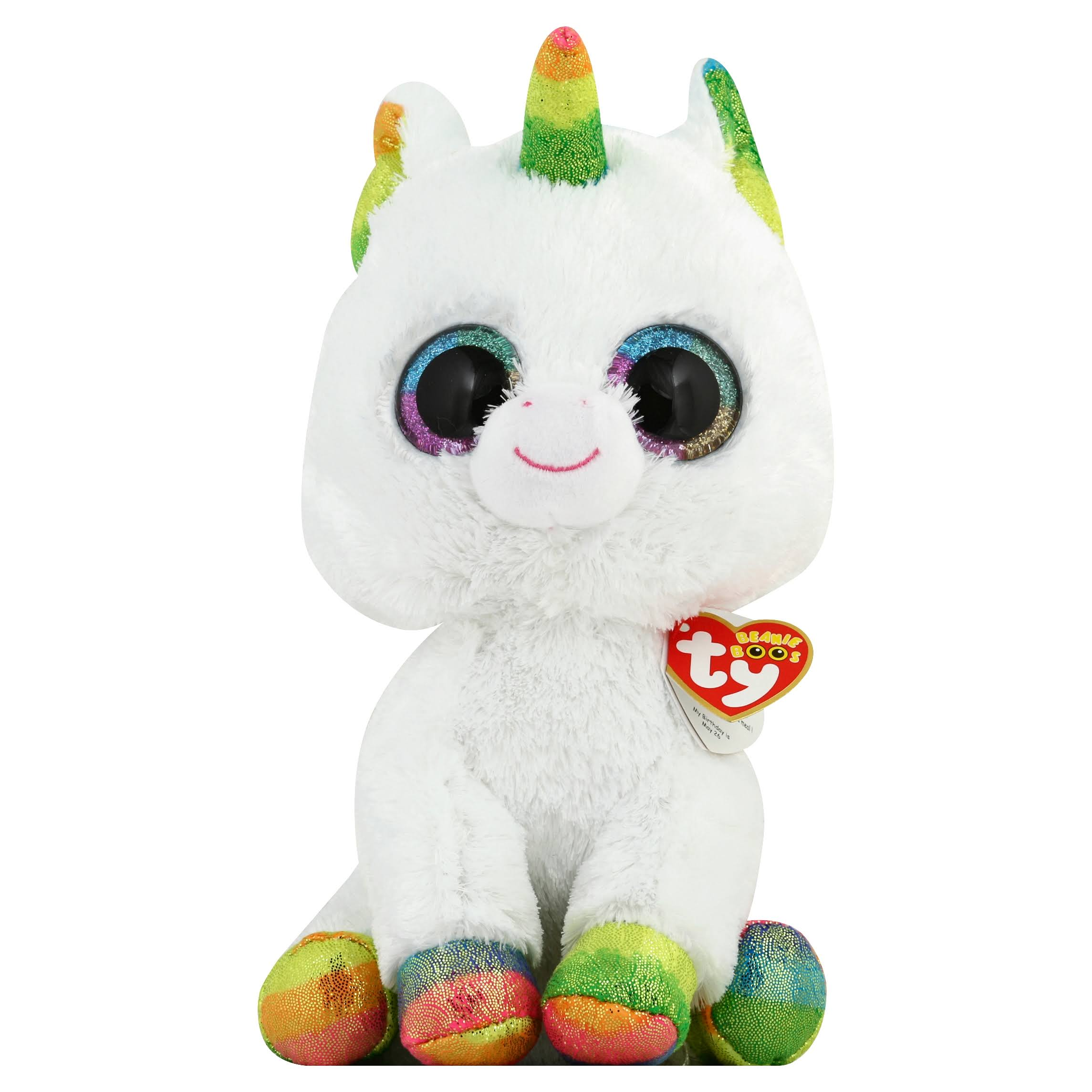 2017 Ty Beanie Boos Plush Toy - Pixie the Unicorn, Medium, 9""