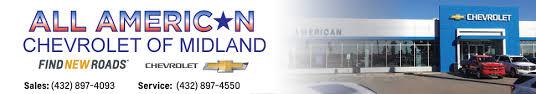 All American Chevrolet of Midland Serving Odessa Andrews & Big Spring