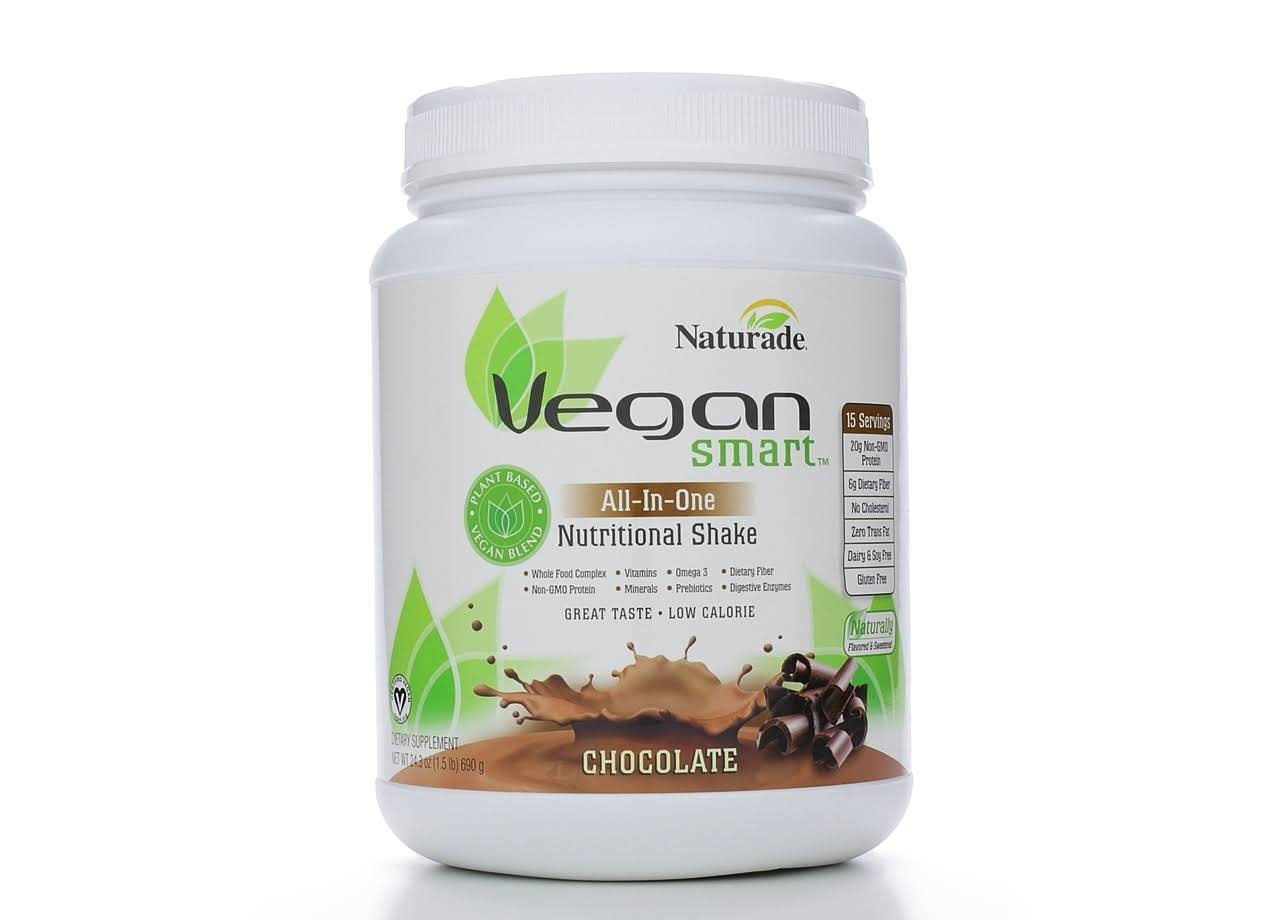 Naturade Vegan Smart All-In-One Nutritional Shake - Chocolate, 24.34oz