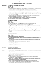 Download College Recruiter Resume Sample As Image File