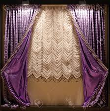 Dark Purple Ruffle Curtains by Black And White Curtains Circle Dark Wood Side Table Grey Lamp