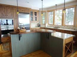 Chic Linoleum Kitchen Countertops M Wood Floor White Pendant Lighting Mahogany