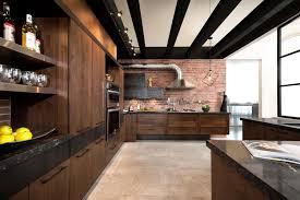 bois cuisine loft kitchen