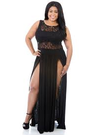 wholesale women black plus size reign maxi dress