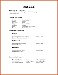 Reference List Examples For Resumes