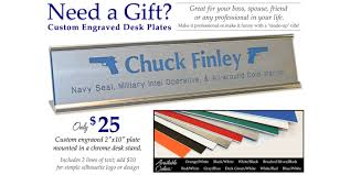 Funny Desk Name Plates by Custom Military Desk Name Plates