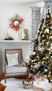 Christmas Decorating Ideas A Black White And Gold Living Room