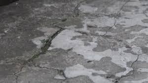 Texture Cement Floor View Top Camera Movement Cracks Stains Monochrome Videos De Stock