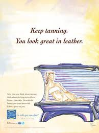 Go With Your Own Glow Poster Tanning Bed The Skin Cancer