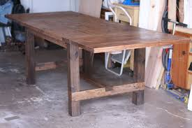Expandable Farmhouse Table 64x38 To 102x38 With Two Breadboard Leaves