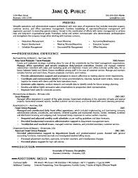 Professional Administrative Resume Examples Samples Assistant 2016