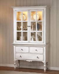 Dining Room Hutch And Buffet Frisch Hollyhock Distressed White With Cute Furniture