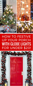 Festive Up Your Porch With Outdoor Solar Globe Lights For Under 20