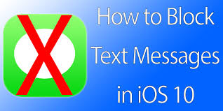 How to Block Text Messages on iPhone in iOS 11 10