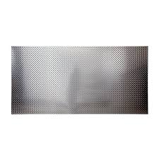 fasade 4 ft x 8 ft diamond plate wall panel brushed aluminum