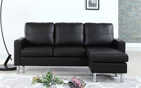 Jennifer Convertibles Sofa With Chaise by Small Black Leather Sectional Sofa Hotelsbacau Com