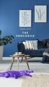 thewildwild crocodile coco dekofigur krokodil blau