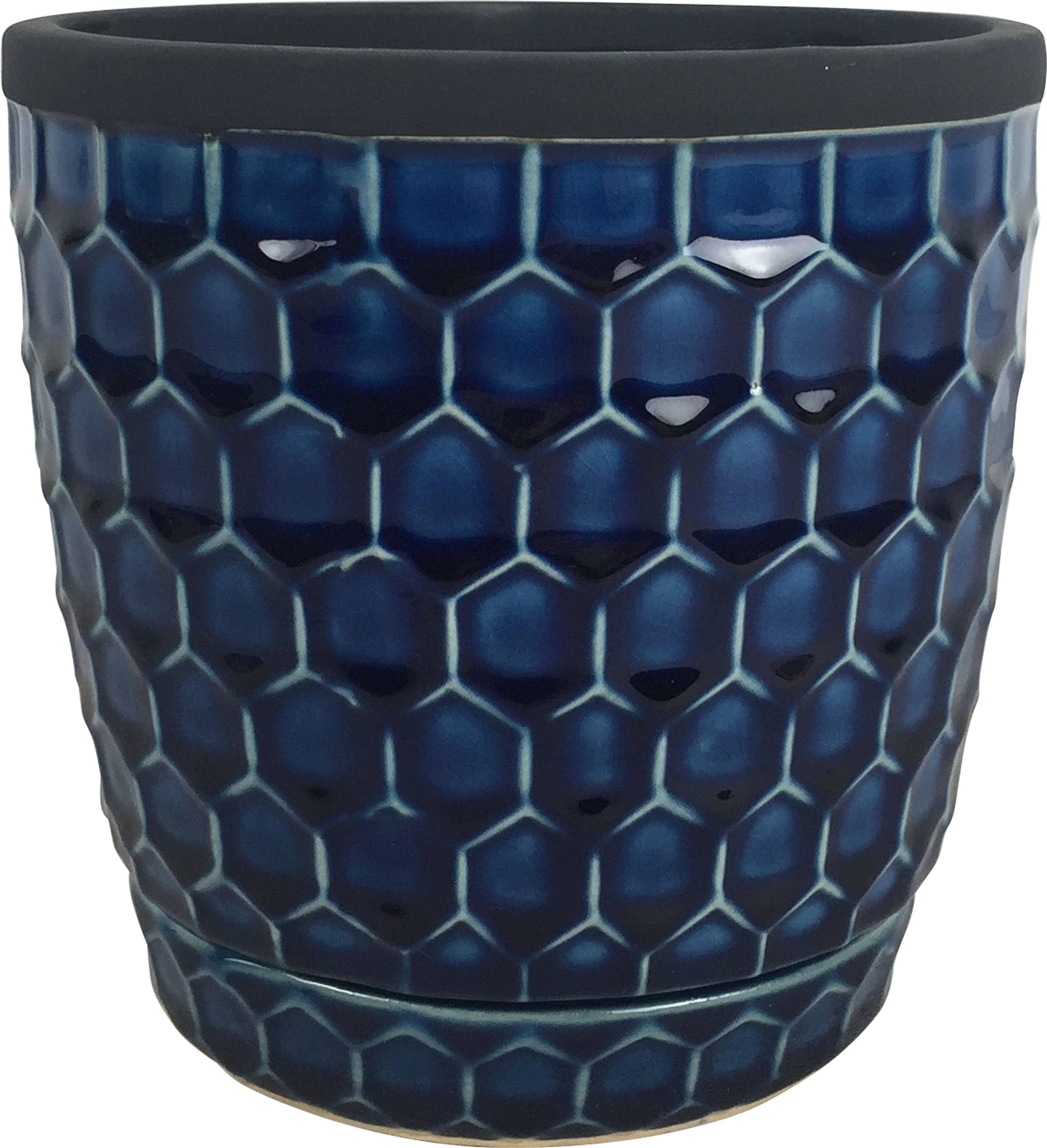 Southern Patio Honeycomb Planter - Cobalt