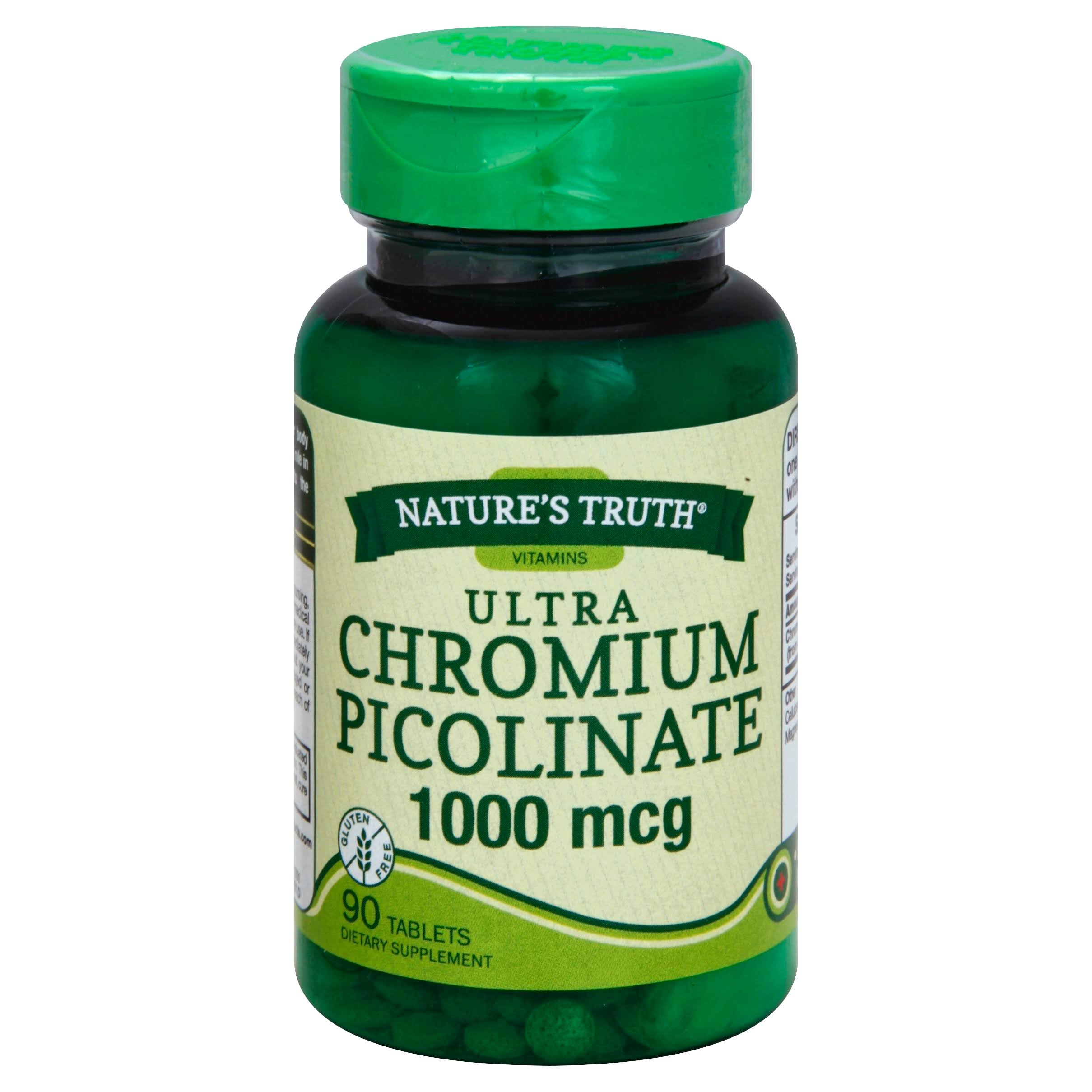 Nature's Truth Chromium Picolinate Dietary Supplement - 1000mcg, 90 Capsules