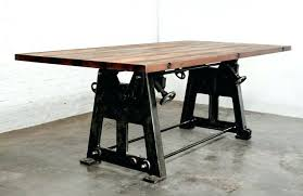 Rustic Industrial Table Dining Room Tables Throughout Style Diy End
