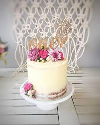 Boho Rustic Cake Florals Seminaked Birthday Macrame Wild One First Baby Perth