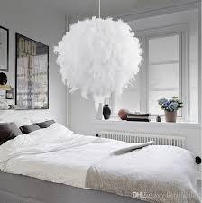 großhandel heiße moderne hängende leuchte romantische traumhafte feder droplight schlafzimmer hängende le laras e27 110 240v freies verschiffen