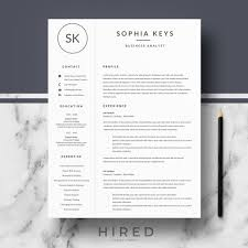 R17 - SOPHIA KEYS - Professional Resume Template For Word & Pages |  Minimalist CV, Resume Design + Matching Cover Letter + References + Resume  Writing ... Free Simple Professional Resume Cv Design Template For Modern Word Editable Job 2019 20 College Students Interns Fresh Graduates Professionals Clean R17 Sophia Keys For Pages Minimalist Design Matching Cover Letter References Writing Create Professional Attractive Resume Or Cv By Application 1920 13 Page And Creative Fully Ms