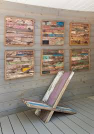 Reclaimed Wood Decor Ideas Deck Beach Style With Painted Wall Art