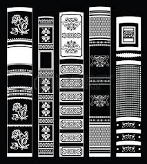 Vintage Books Black And White Vector Background