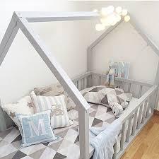Creative Decoration Toddler Floor Bed Frame Montessori Big Kid