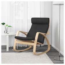 100 The Gripper Twill 2 Pc Rocking Chair Pad Set Poang Rocking Chair Vislanda Black White Ikea Winnipeg Composite