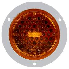 Super 44, LED, Strobe, 42 Diode, Round Yellow, Gray Flange Mount ... Truck Lite Led Headlights Lights 15 Series 3 Diode License Light Rectangular Bracket Mount 80 Par 36 5 In Round Incandescent Spot Black 1 Bulb Trucklite Catalogue 22 Yellow Side Turn 66 Clear Oval Backup Flange 7 Halogen Headlight Glass Lens Alinum 12v Signalstat Redclear Acrylic Lh Combo Box 26 Chrome Atldrl Universal 4 X 6 Snow Plow 21 High Mounted Stop 16 Red 60 Horizontal