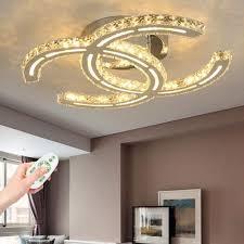 led deckenle moderne kristall deckenleuchte dimmbare wohnzimmer le dekoration schlafzimmer deckenbeleuchtung mit fernbedienung deckenspot