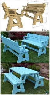 Folding picnic table benches I made a larger version of this