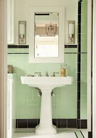 mid century tile bathroom bathroom with medicine cabinet