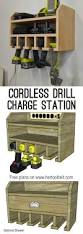 Apothecary Cabinet Woodworking Plans by Cordless Drill Storage Charging Station Her Tool Belt