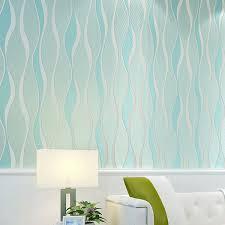non woven wallpaper modern minimalist light blue curve light pink