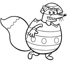 Swiper Inside An Easter Egg In Dora The Explorer Coloring Page