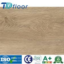 Wood Grain PVC Vinyl Flooring For Office Supermarket School