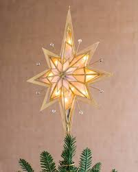Unlit Christmas Tree Toppers by Pre Lit Bethlehem Star Tree Topper Balsam Hill
