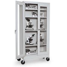 sandusky lee mobile microscope storage cabinet