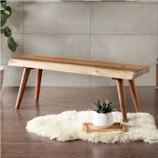 Image Of Ink Ivy Arcadia Wood Dining Bench Natural