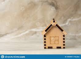 100 Eco Home Studio Miniature Of Wooden House Real Estate Concept Stock Image