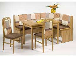 Image Of Stylish Corner Bench Dining Table Set