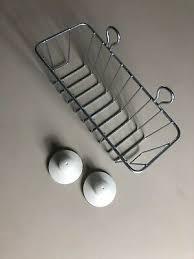 badezimmer aufbewahrung gitter bahälter mit saugnäpfen zum aufhängen ikea ebay