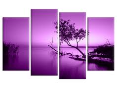 Living Room Lovely Purple Lake Idea Design Your Own Canvas Wall Art Famous For Home Decoration